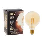 Лампа светодиодная REV LED FILAMENT VINTAGE, G95, 7 Вт, E27, 2700 K, шар, теплый свет