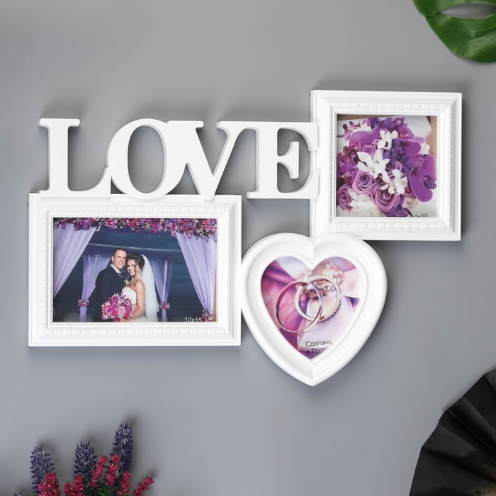 """Фоторамка-Коллаж  """"Любовь"""" на 3 фото - фото 7365339"""