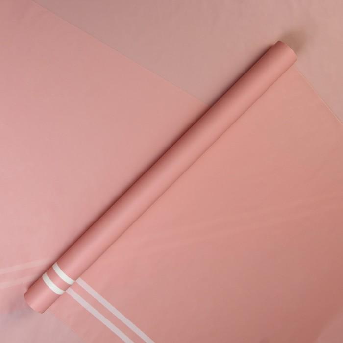 "Пленка матовая для цветов ""Прадо"", нежно розовый, 60 см х 5 м - фото 687735141"