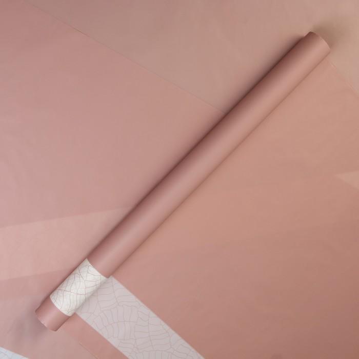 "Пленка матовая для цветов ""Трафарет"",нежно розовый, 57 см х 5 м - фото 798350396"