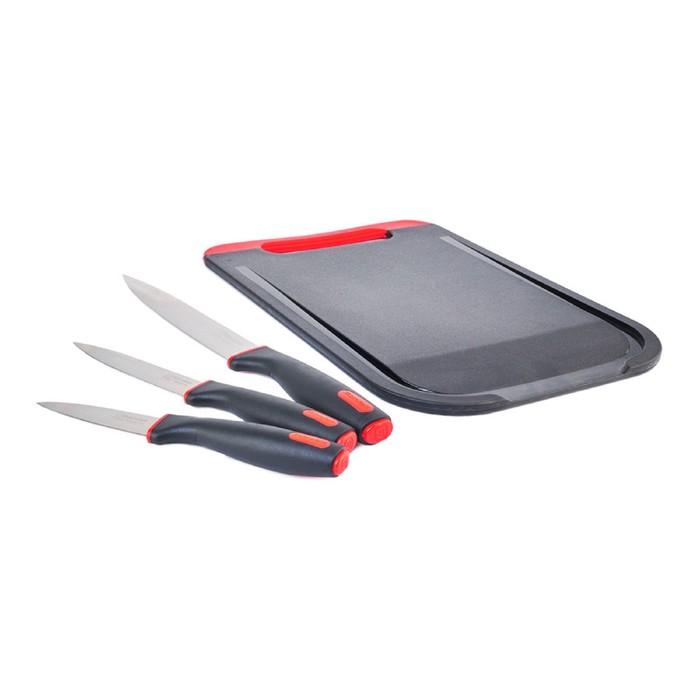 Набор ножей Rondell Urban 3 шт: 20/12.7/8.9 см, с разделочной доской