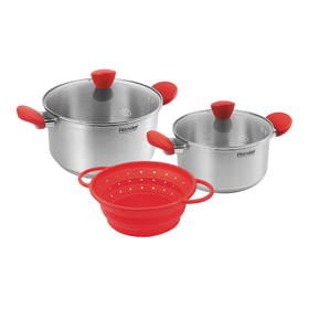Набор посуды Rondell Breit: кастрюли 20 см/2.8 л, 24 см/4.8 л, дуршлаг 21 см
