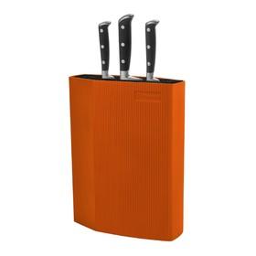 Подставка для ножей Rondell, оранжевая