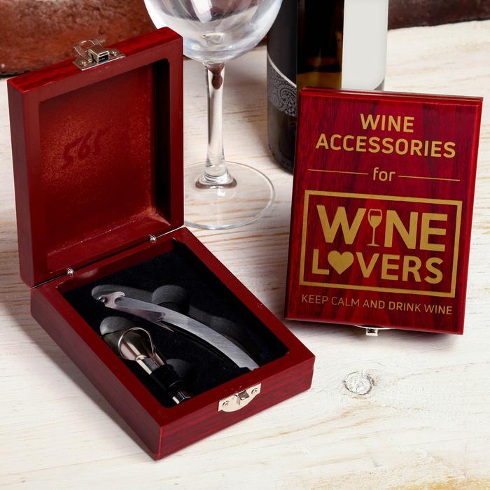 """Набор для вина в коробке """"Wine lovers"""", 13 х 10 см"""