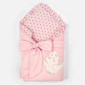 """Конверт-одеяло Крошка Я """"Птичка"""", розовый, 50-62см"""
