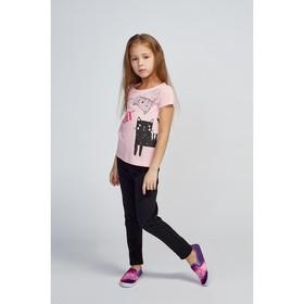 Футболка для девочки, цвет розовый, рост 104 см