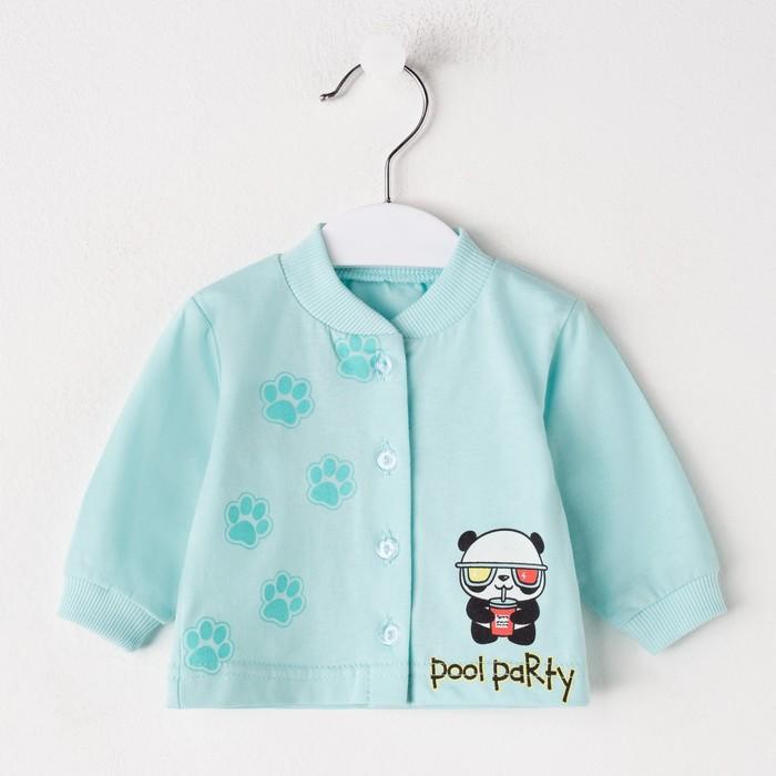 Кофточка детская, цвет бирюзовый, рост 56 см - фото 105715596