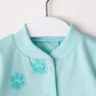 Кофточка детская, цвет бирюзовый, рост 56 см - фото 105715597
