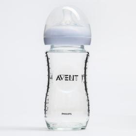 Бутылочка для кормления, 240 мл., от 1 мес., медленный поток, серия Natural