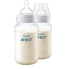 Набор бутылочек для кормления 330 мл., 2 шт., от 3 мес., средний поток, серия  Anti-colic