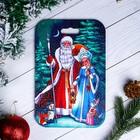 """Доска разделочная сувенирная """"Дед Мороз и Снегурочка"""", 18,2×28 см"""