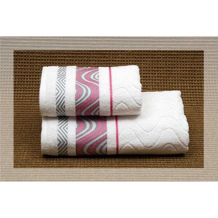 Полотенце махровое Marezzato, размер 50х90 см, цвет белый, хлопок 100%