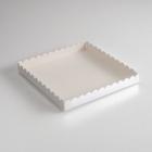 Коробочка для печенья, серебрянная, 25 х 25 х 3 см