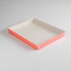 Коробочка для печенья, розовая, 23,5 х 30 х 3 см