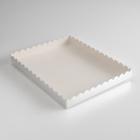 Коробочка для печенья, серебрянная, 23,5 х 30 х 3 см