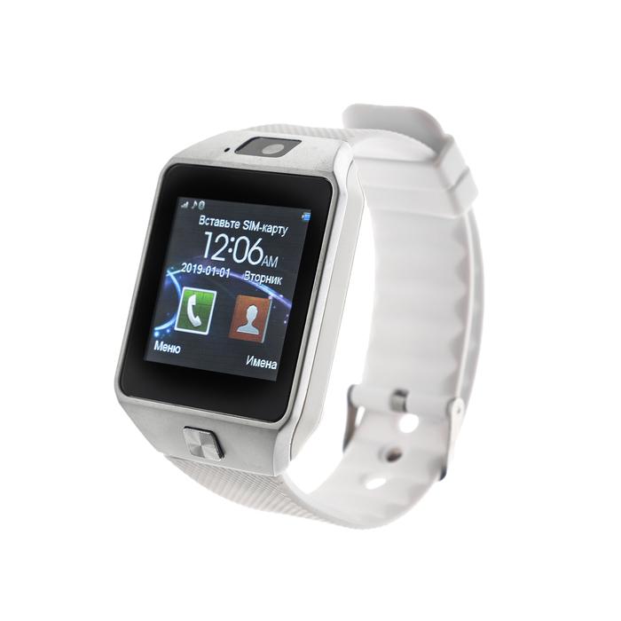 """Смарт-часы Smarterra SmartLife X, сенсорный дисплей 1.54"""", sim-карта, белые"""