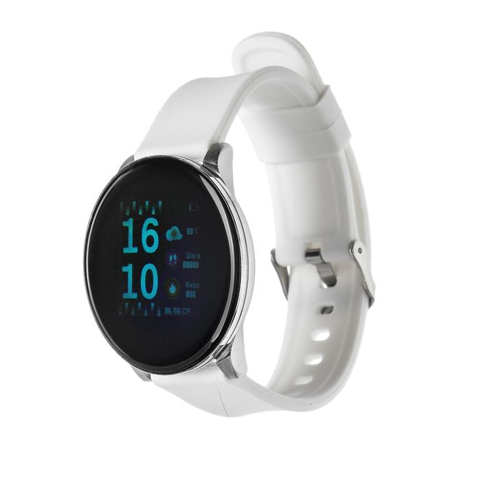 """Смарт-часы Smarterra SmartLife UNO, цветной дисплей 1.3"""", стальной ремешок, цвет серебро"""