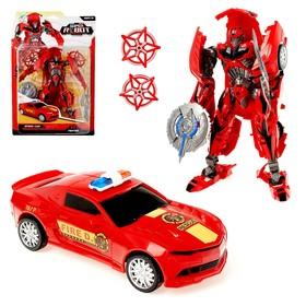 Робот-трансформер «Полицейский», цвет красный