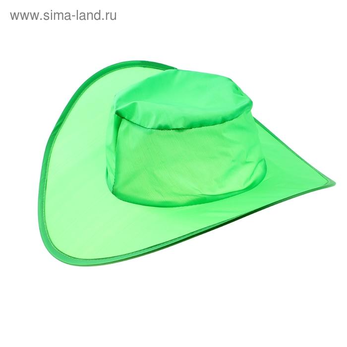 Шляпа складная в чехле, цвет зелёный, обхват головы 58 см, ширина полей 9 см