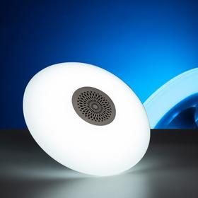 """Световой прибор """"Тарелка"""", E27, с музыкой, Bluetooth, БЕЛЫЙ"""