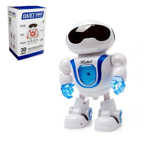 """Robot """"Dancer"""", light and sound effects, battery powered MIX color"""