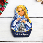 "Suspension-matryoshka postcard ""sincerely"" (ornament) 6 x 9.4 cm"