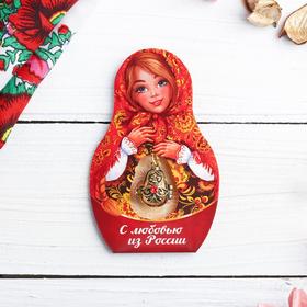Подвеска-матрёшка на открытке «С любовью из России. Узоры» в Донецке