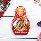 "Suspension-matryoshka postcard ""sincerely"" (flowers), 6 x 9.4 cm"