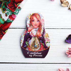 Подвеска-матрёшка на открытке «С любовью из России» в Донецке