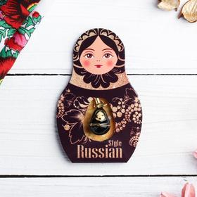 Подвеска-матрёшка на открытке Russian style в Донецке