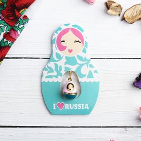 Подвеска-матрёшка на открытке I love Russia в Донецке