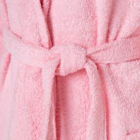"""Халат махровый """"Экономь и Я"""" женский р-р 42-44 нежно-розовый, 340 г/м2, хл.100% с AIRO - фото 4672981"""