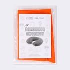 Подушка для шеи дорожная, надувная, 38 × 24 см, цвет оранжевый - фото 4639278