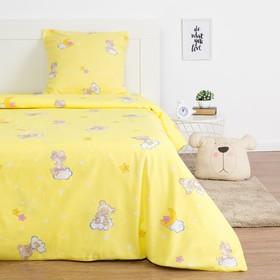 Детское постельное бельё Экономь и Я «Месяц» 1.5сп, цвет жёлтый, 147х210±5см, 150х214±5см, 70х70±5см - 1шт