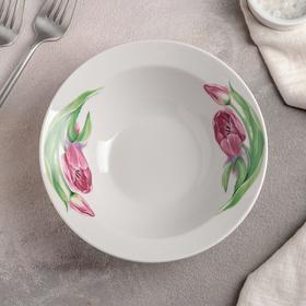 Миска «Розовые тюльпаны», 300 мл