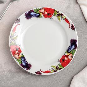 Тарелка мелкая «Овощи», 17,5 см