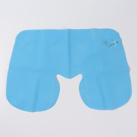 Подушка для шеи дорожная, надувная, 38 × 24 см, цвет голубой - фото 4639281