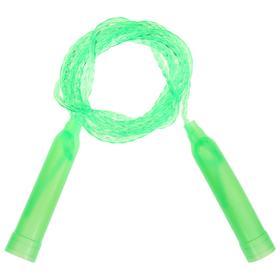 Скакалка пластиковая, 2,5 м, d=0,28 см, цвета МИКС