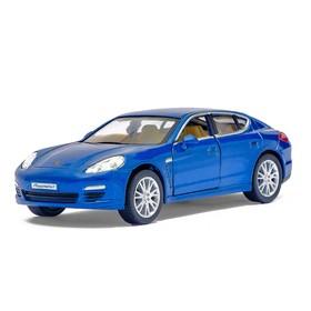 Машина металлическая Porsche Panamera S, масштаб 1:40, открываются двери, инерция, цвет синий