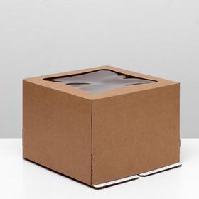 Кондитерская упаковка с окном ромб, 27 х 27 х 20 см