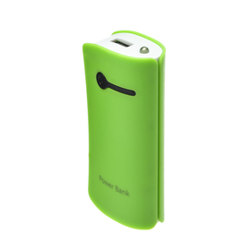 Внешний аккумулятор LuazON, 3600 мАч, USB, 1 А, индикатор зарядки, зелёный