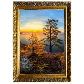 Алмазная мозаика «Красоты Байкала» 29,5×20,5см, 24 цвета
