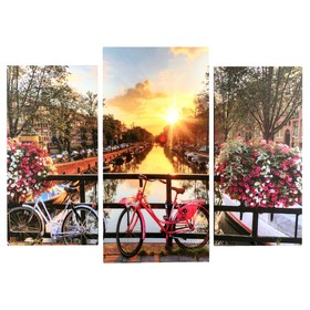 "Модульная картина ""Канал Амстердама"" ( 2-25х50, 30х60 см) 60х80 см"