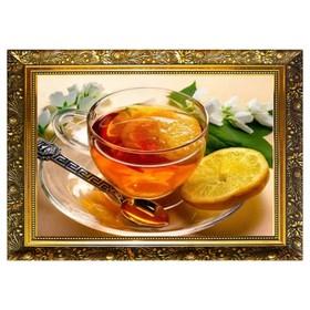 Алмазная мозаика «Бодрящий напиток» 29,5×20,5 см, 25 цветов