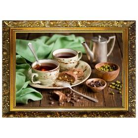 Алмазная мозаика «Кофейная идиллия» 29,5×20,5 см, 25 цветов