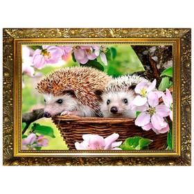 Алмазная мозаика «Под яблонькой» 29,5×20,5см, 25 цветов