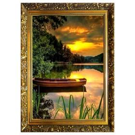 Алмазная мозаика «Тихий вечер» 29,5×20,5 см, 24 цвета