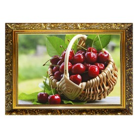 Алмазная мозаика «Вишневое лакомство» 29,5×20,5см, 28 цветов