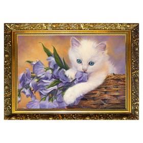 Алмазная мозаика «Васильковые глазки» 29,5×20,5 см, 25 цветов