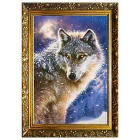 Алмазная мозаика «Страж леса» 29,5×20,5 см, 25 цветов